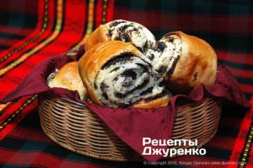 Фото рецепта булочки с маком