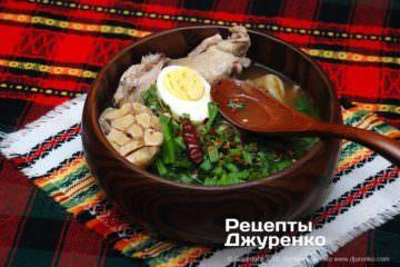 Фото рецепта курячий суп з локшиною