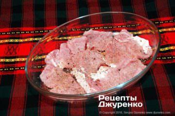 Шаг 3: мясо в форме для запекания
