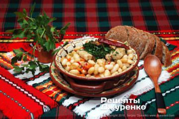 Фото рецепта свинина с фасолью