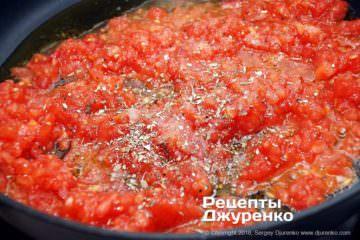 Як приготувати Паста з томатами і базиліком. Крок 10: томат зі спеціями