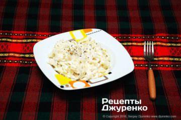 Фото к рецепту: паста со сливочным соусом