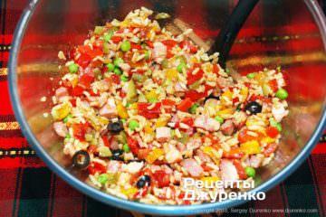 перемішати салат
