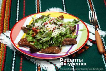 Фото к рецепту: говядина с салатом