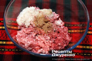 Шаг 5: начинка из мяса