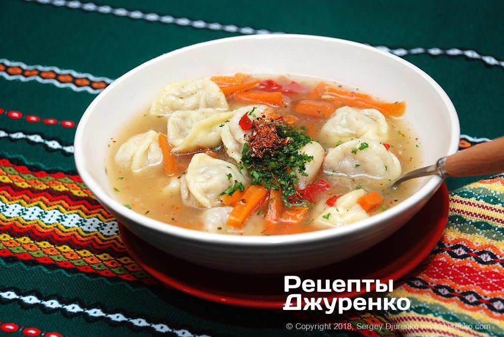 суп з пельменями фото рецепту