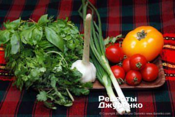 Крок 1: зелень і овочі