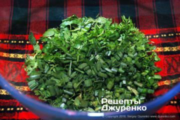 Крок 1: зелень для салату