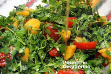 заправлений салат