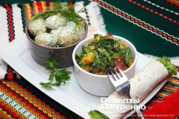 Фото к рецепту: зеленый салат