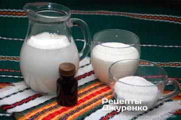 Шаг 1: ингредиенты для мороженого