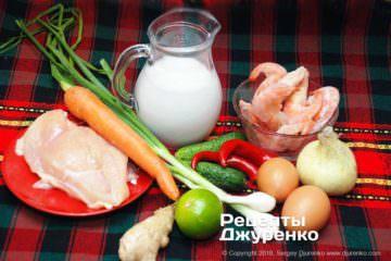 Шаг 1: ингредиенты для супа