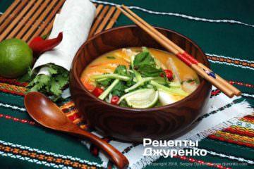 Фото рецепта суп лакса