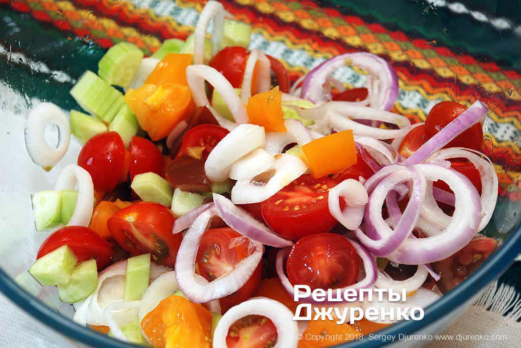 Нарезанный салат.