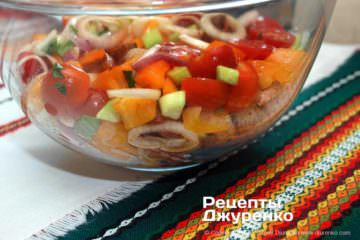 Шаг 9: салат с крутонами