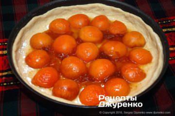Як приготувати Абрикосовий пиріг. Крок 18: залити карамель