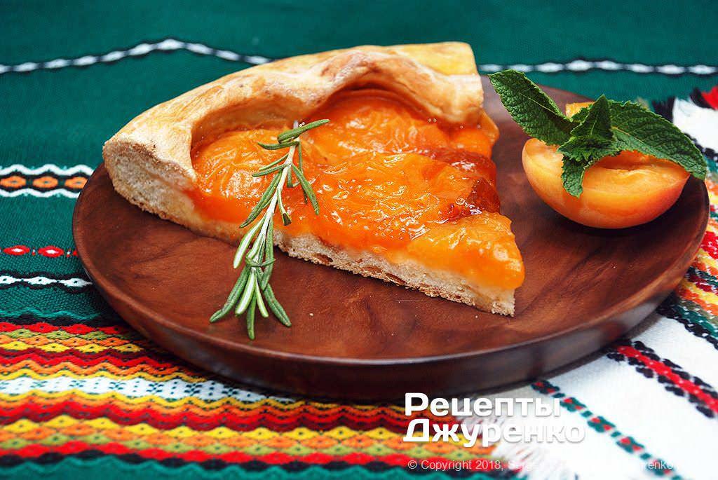 Фото готового рецепту абрикосовий пиріг в домашніх умовах