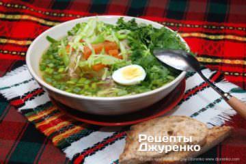 Фото рецепта суп з молодою капустою