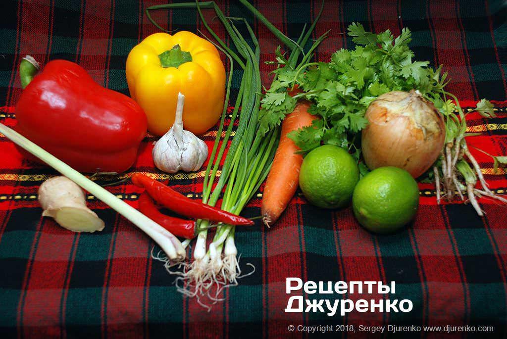 Овочі для соусу.
