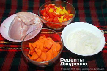 Как приготовить Карри с рисом. Шаг 6: нарезка овощей