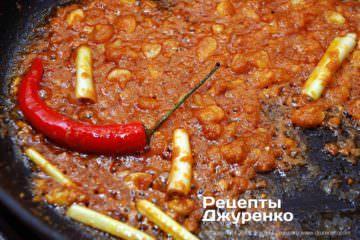Как приготовить Карри с рисом. Шаг 16: обжарить пасту