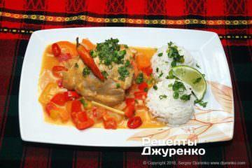 Фото рецепта каррі з рисом
