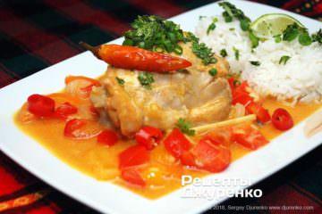 каррі з рисом фото рецепту