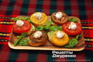 Шаг 8: моцарелла с помидорами