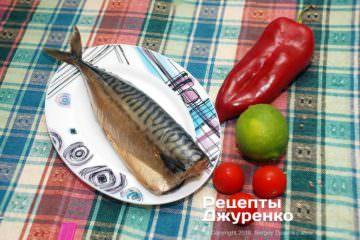 Как приготовить Салат с копченой скумбрией. Шаг 4: копченая скумбрия