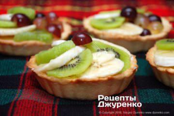 Как приготовить Тарталетки. Шаг 22: корзинки с фруктами