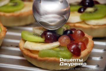 фрукти в желе