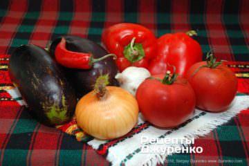 Как приготовить Баклажаны с перцем. Шаг 2: овощи для запекания