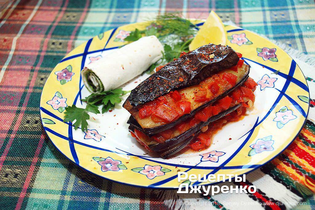 Фото готового рецепта баклажаны с перцем в домашних условиях