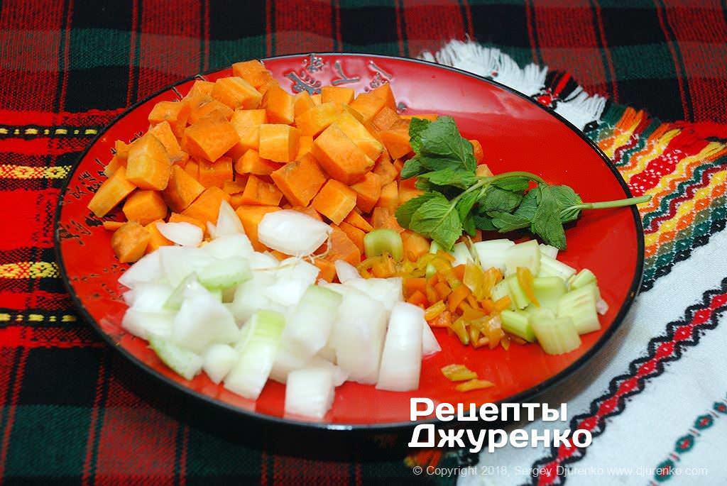 Нарезка овощей.