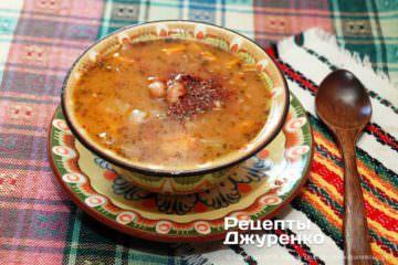 Фото рецепта боб чорба — болгарский фасолевый суп