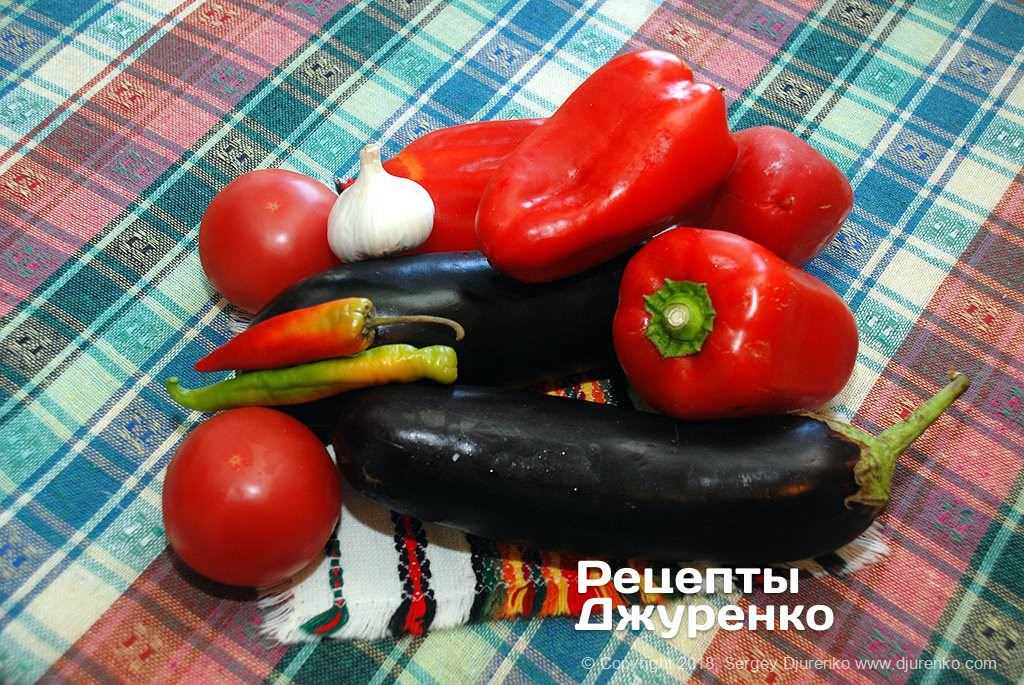 Овощи для икры.