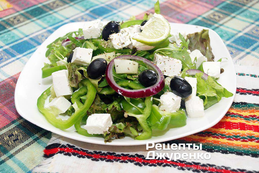 салат с сыром фета фото рецепта