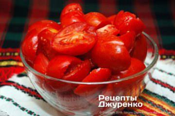Крок 2: нарізані помідори