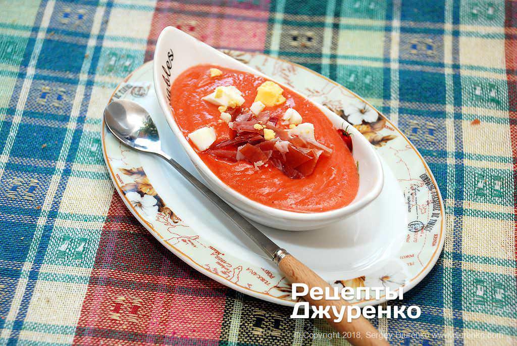 Фото готового рецепту суп сальморехо в домашніх умовах