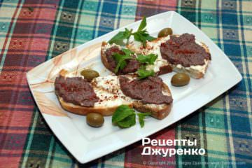 бутерброды с оливками