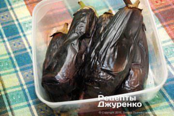 Шаг 2: печеные баклажаны