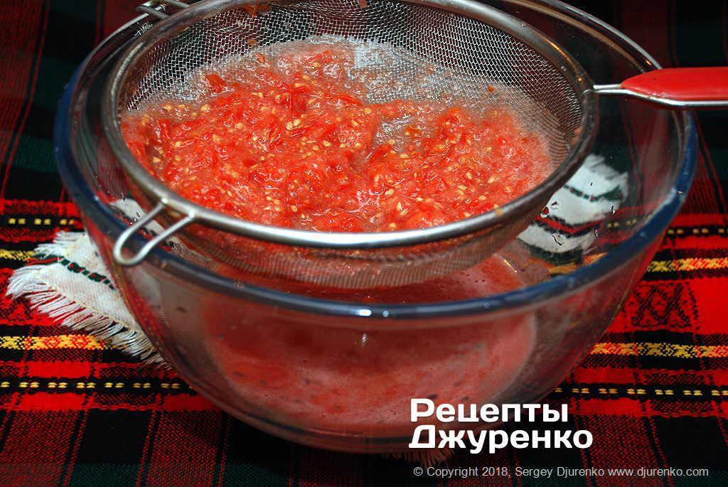 Пюре из томатов.