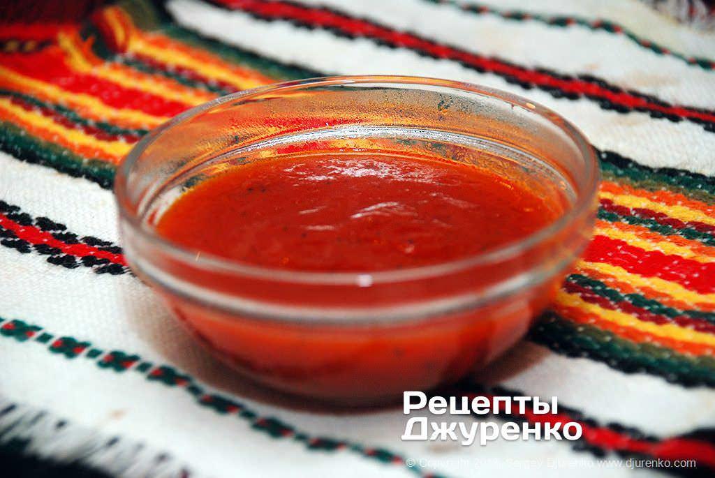 Густой томатный соус.