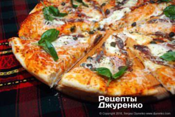 пицца с анчоусами