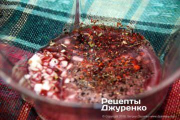 Как приготовить Салат из жареных баклажанов. Шаг 14: салатная заправка