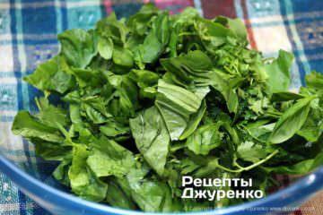 Шаг 6: салатная зелень