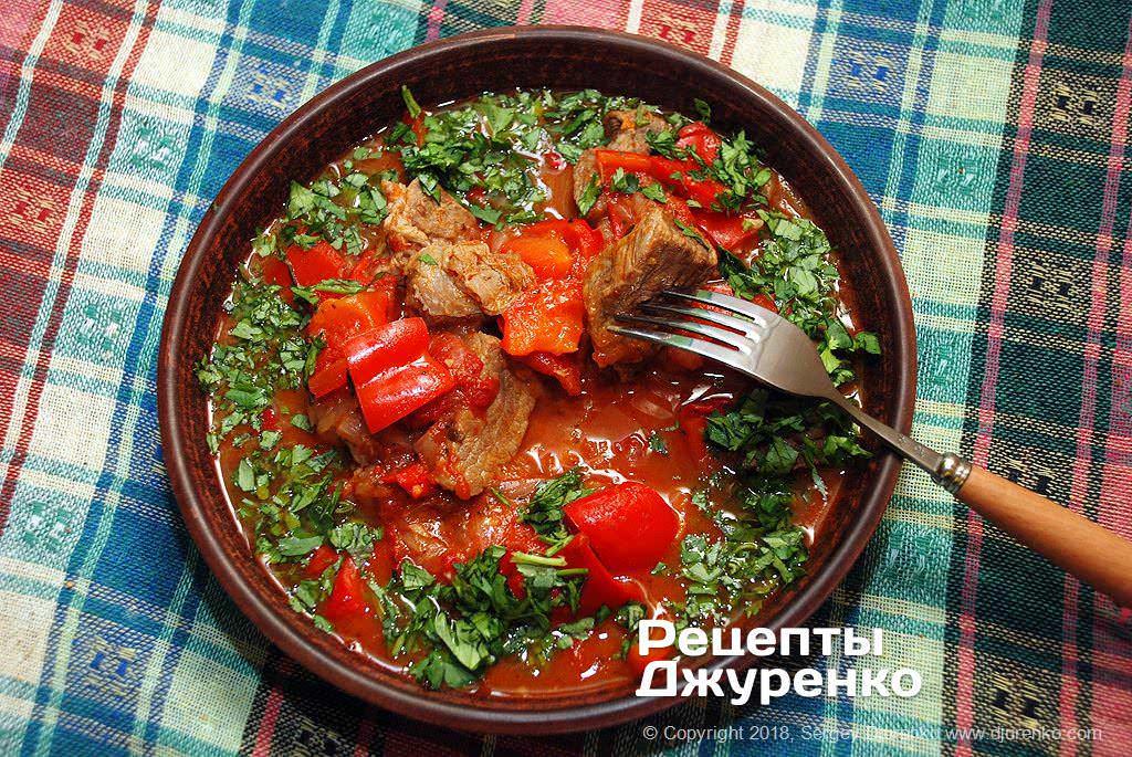 Фото готового рецепту рагу з яловичини в домашніх умовах