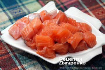 Шаг 5: мясо лосося