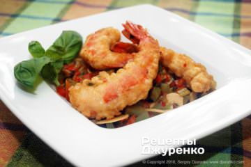 Фото к рецепту: креветки в кляре