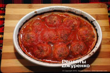 Крок 9: готові тефтелі в томаті